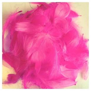 100 шт. Фуксия цвет.  Гусиное перо 4-9 см. Плавающее