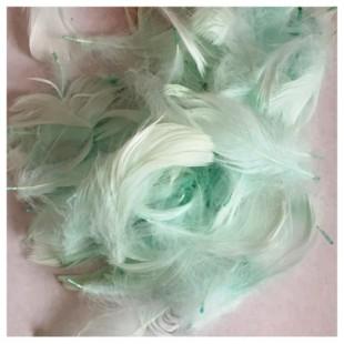 20 шт. Бледно-голубой цвет. Гусиное перо 4-6 см. Плавающее
