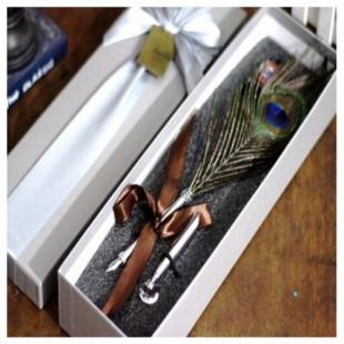 Ручка с пером страуса