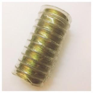 0.3 мм. Золото цвет. Проволочка для рукоделия 10 катушек
