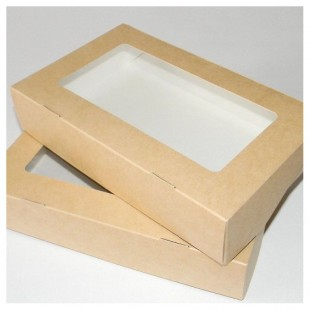 Коробочка подарочная с окошечком 20 х 12 х 4 см