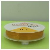 0.7. Оранжевый цвет. Нить резинка. Спандекс