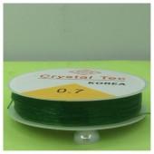 0.7. Зеленый цвет. Нить резинка. Спандекс