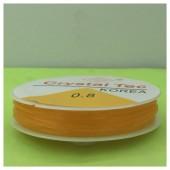 0.8. Оранжевый цвет. Нить резинка. Спандекс