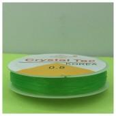 0.8. Зеленый цвет. Нить резинка. Спандекс