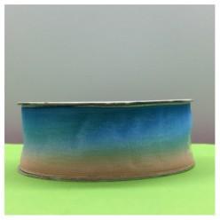 30 м. Розово-голубой цвет. Цветная капроновая лента 2.5 см
