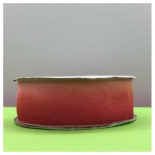 30 м. Красно-розовый цвет. Цветная капроновая лента 2.5 см