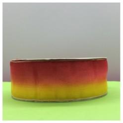30 м. Красно-желтый цвет. Цветная капроновая лента 2.5 см