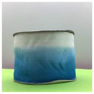 30 м. Бело-голубой цвет. Цветная капроновая лента 5 см