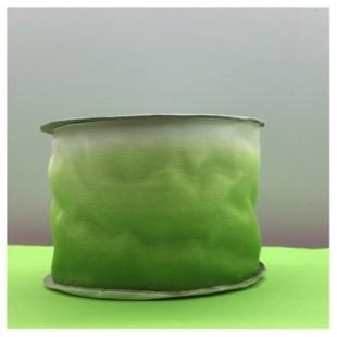 30 м. Зелено-белый цвет. Цветная капроновая лента 5 см