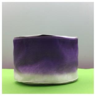 30 м. Бело-фиолетовый цвет. Цветная капроновая лента 5 см