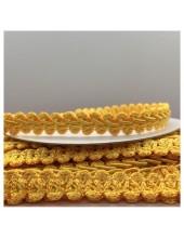С-17. 17 м. Желтый цвет цвет. Тесьма кружевная. Косичка 1 см