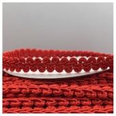 С-17. 17 м. Красный цвет цвет. Тесьма кружевная. Косичка 1 см