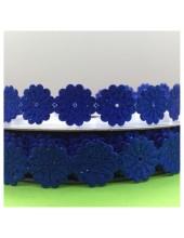 М-8. 20 м. Синий цвет цвет. Тесьма кружевная. Цветочек 1.5 см