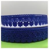 Е-404. 1 м. Синий цвет. Тесьма кружевная. Зигзаг 1.8 см