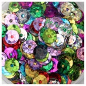 Микс цвет. Пайетки круглые  6 мм  1000 шт
