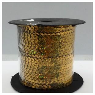 6 мм. 100 м. Золотой хамелеон цвет. Пайетки нить