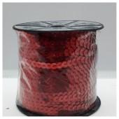 6 мм. 1 м. Красный хамелеон цвет. Пайетки нить
