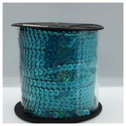 6 мм. 1 м. Голубой хамелеон цвет. Пайетки нить