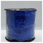 6 мм. 1 м. Синий хамелеон цвет. Пайетки нить
