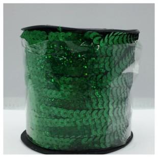 6 мм. 100 м. Зеленый хамелеон цвет. Пайетки нить