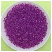 № 10. Фиолетово-сиреневый полупрозрачный цвет. Бисер. Чехия. 250 гр. № 11