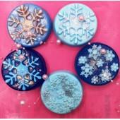 Снежинки. Фигурное мыло ручной работы № 36