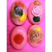 Мыло брусочком с цветами. Ручная работа