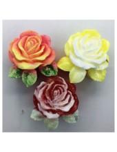 Роза с листочками. Мыло ручной работы. 60 гр