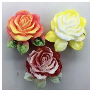 Роза с листочками. Мыло ручной работы 60 гр