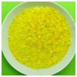 450 гр. Желтый прозрачный цвет. Стеклярус. № 10