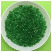 50 гр. Зеленый прозрачный цвет. Стеклярус. № 23