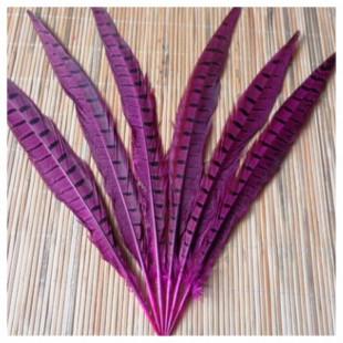 1 шт. Фуксия цвет. Перья фазана 30-35 см