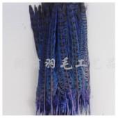 1 шт. Синий цвет. Перья фазана 30-35 см.