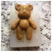 3D Силиконовая форма для мыла. Мишка. Размер формы 4.5 х 6 см № 12