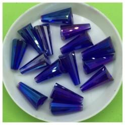 50 шт. Синий хамелеон цвет. Конус. Бусинки стеклярус. Э-1. № 4