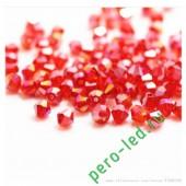 Красный хамелеон цвет. Биконусы стеклянные бусинки 100 шт. 4мм. #1405 #12