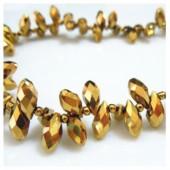 Золото цвет. Каплевидные с гранями бусинки  6*12.  20 шт.  #13  #045