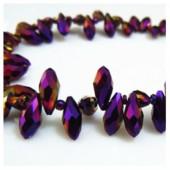 Фиолетовый хамелеон цвет. Каплевидные с гранями бусинки 6*12. 20 шт. #31  #045