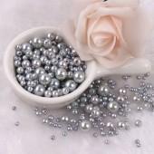 Серебро цвет. Бусинки акриловые цветные. 10 мм 100 шт  # 050