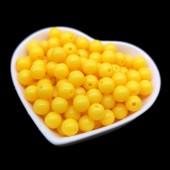 Желтый цвет. Бусинки акриловые цветные. 6 мм 200 шт # 050