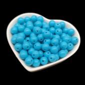 Голубой цвет. Бусинки акриловые цветные. 8 мм 150 гр # 050