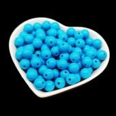Голубой цвет. Бусинки акриловые цветные. 10 мм 100 шт  # 050