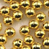Золотой цвет. Бусинки акриловые цветные. 8 мм 150 шт # 050