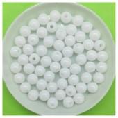 Белый цвет. Бусинки акриловые цветные. 6 мм. 200 шт  # 050