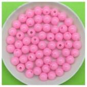 Розовый цвет. Бусинки акриловые цветные. 6 мм 200 шт  # 050