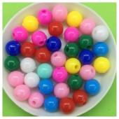 8 мм. 450 гр. Микс цвет. Цветные бусинки № 17.   050