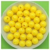 Желтый цвет. Бусинки акриловые цветные. 8 мм 400 гр # 050