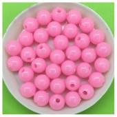 Розовый цвет. Бусинки акриловые цветные. 8 мм 400 гр # 050