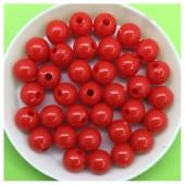 Красный цвет. Бусинки акриловые цветные. 8 мм 400 гр # 050